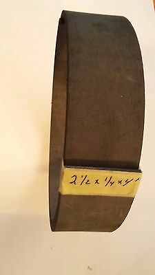 """2 1/2"""" wide x 1/4""""-thick Flex Molded Brake Lining"""