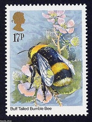 Bombus terrestris - Buff Tailed Bumble Bee on 1985 Stamp - Unmounted Mint
