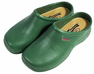 Town & Country EVA Outdoor Garden Lightweight Cloggies Shoes - Green- UK Size 11