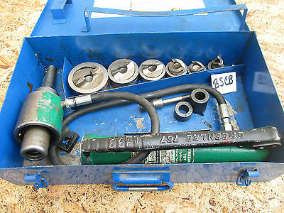 GREENLEE 767 Current 161SS Heavy Duty Stainless Steel Hydraulic Knockout Set 6