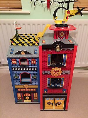 Kidcraft Wooden Fire And Police Station Play Set