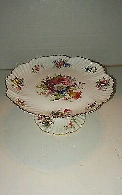 Hammersley Bone China Flower Cake Stand Plate Vintage