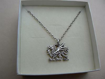 PAST TIMES Celtic Welsh Dragon pendant Sterling Silver in box, 80s
