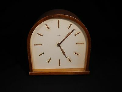 Smiths mantle clock Made in Great Britain 1950s 60s, working with key