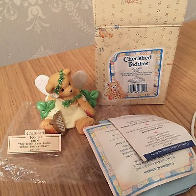 Cherished Teddies 1997 Figurine Bear Erin, Dust Free, With Certificates And Box