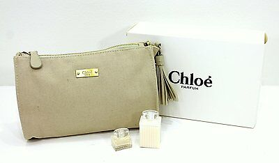 Chloe Parfums Large Make-Up Bag / Pouch , 3Ml Edp & 30Ml Body Lotion * New Boxed