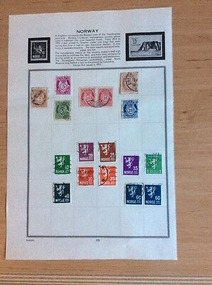 17 used stamps from Norway