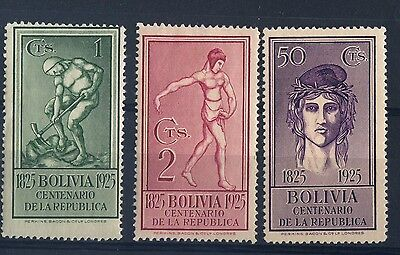 1925  1,2 & 50 cts Centenary Independence MH