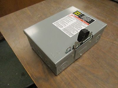 Square D Non-Fusible Safety Switch / Disconnect DU321 30A 240V New Surplus