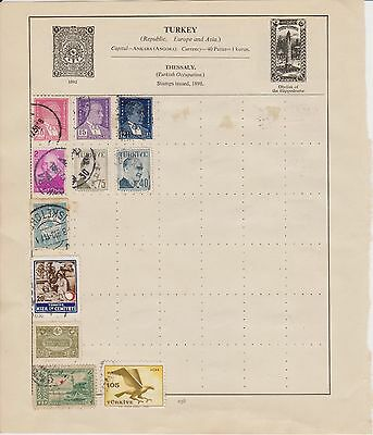 Turkey stamps used