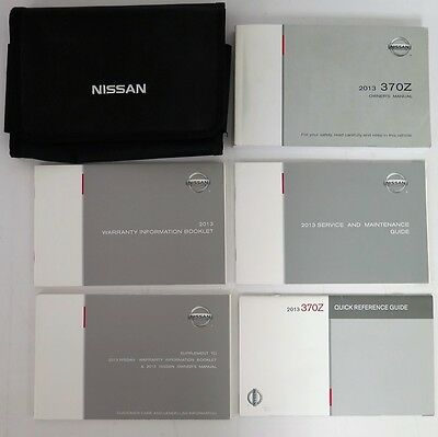 2013 Nissan 370Z Owners Manual Guide Book