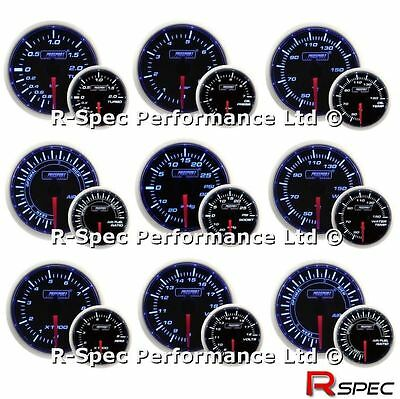 ANY 3 GAUGE OFFER - New 52mm Prosport  Blue / White Turbo Boost Oil Water Temp
