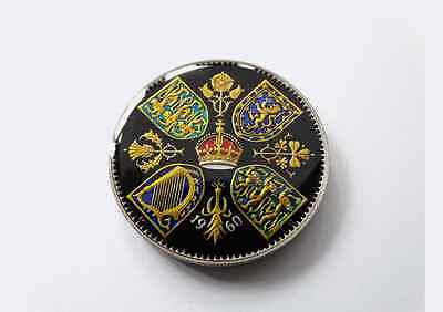 Enamelled Coin 1960 Crown/Five Shillings