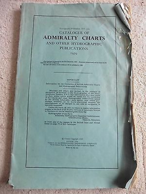 Catalogue Of Admiralty Charts 1959 Including Price List.