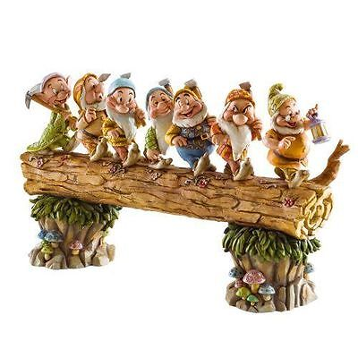 Disney Traditions Jim Shore 400543 Seven Dwarfs Walking Over Fallen Log