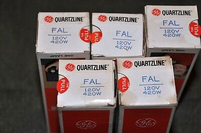 Lot of 5 - FAL  PHOTO, PROJECTOR, STAGE, STUDIO, A/V LAMP/BULB