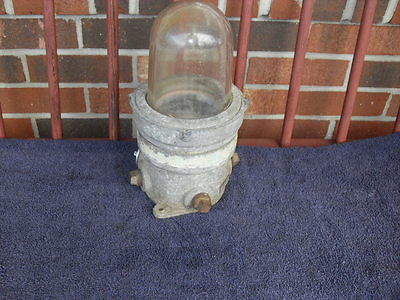 Vintage Industrial Russell & Stoll Explosion Proof Light, # 4531