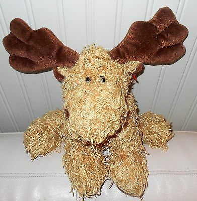 """TY Moose plush Beanie Baby MELVILLE Large Brown Classic 2004 16"""""""