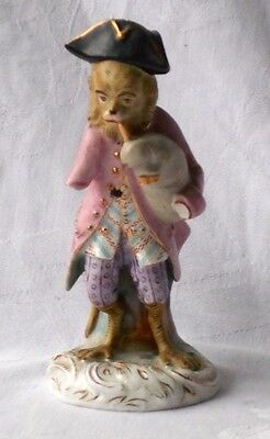 C19Th Continental Monkey Band Figure Of A Piper A/f