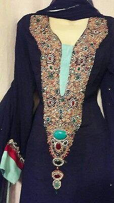 Indian Pakistani Shalwar salwar kameez kurta  Wedding M party formal wear NEW