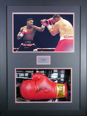 Anthony Joshua Signed Glove in 3D Frame with COA