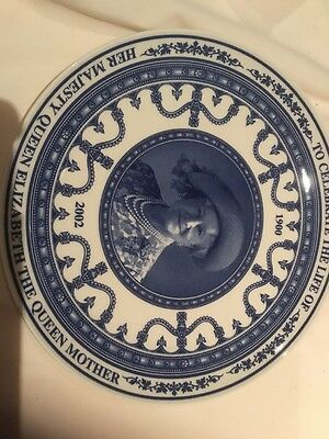 Wedgwood Commemorative Plate. Queen Mother 2002