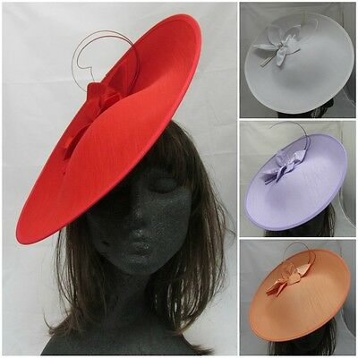 Designer Silk Fascinator Hat Wedding Occasion Ascot Mother of Bride/Groom Races