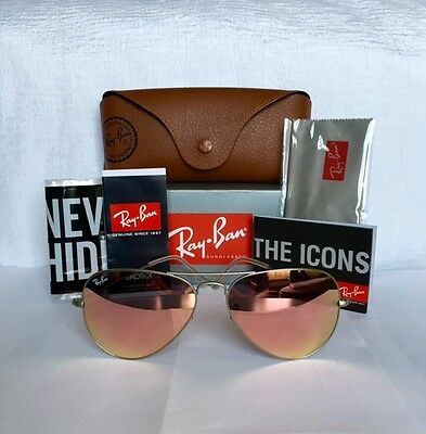 "Ray-Ban ""Aviator"" Unisex Sunglasses RB3025/ 019/ Z2 Copper Flash Lens/ size 58mm"