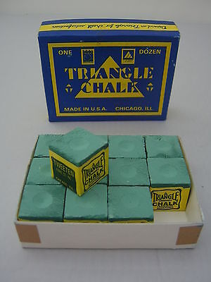 12 Cubes of Triangle Snooker & Pool Chalk by Tweeten - Boxed