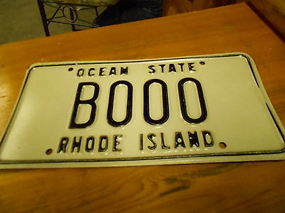 License Plate, Rhode Island, Motto: Ocean State, BOOO