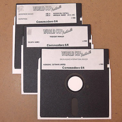 WorldCup Football Game Commodore 64 Floppy Disk C64 C128 Microprose Soccer