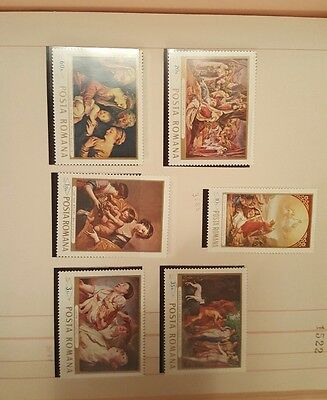 Romania set of stamps MNH
