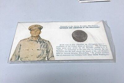 Silver 50 Centavos Philippines Coin Honouring General MacArthur