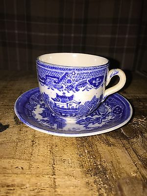 Old Willow Cup And Saucer