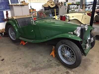 1949 MG T-Series none 1949 MG TC runs very good rare EXU model needs restoration MATCHING NUMBERS