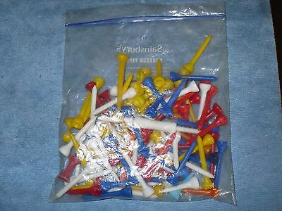 Over 100 Assorted Plastic Golf Ball Tees Free P&p