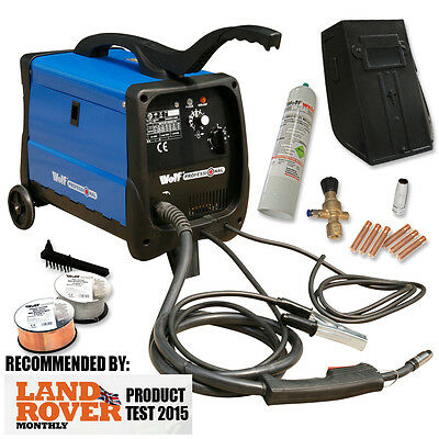 Wolf MIG WELDER Gas No Gasless MIG Welder 140 Turbo Welding Machine 135 amp 230v