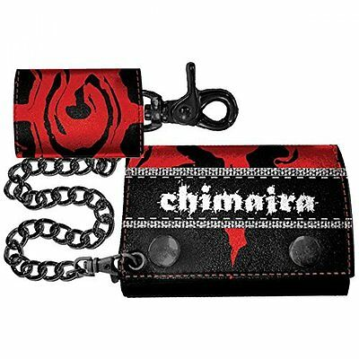 Chimaira- Black/Red Leather Wallet Chimaira, Multicolor (Unisex)  AC NEU
