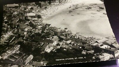 Postcard trewyn studio st ives cornwall RP air view unposted
