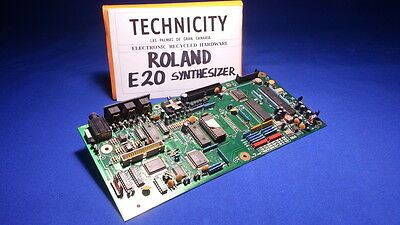 Roland E 20  Synthesizer -Cpu Logic Board - Placa Principal Cpu - Tested