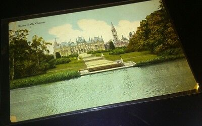 Old postcard eaton hall chester posted 1914 publ boots cash chemists pelham seri