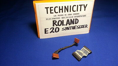 Roland E 20  Synthesizer - Cables   - Tested