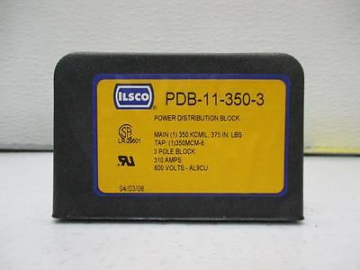 PDB-11-350-3 Ilsco power distribution block 350 MCM in & out 310 amps 600 volt