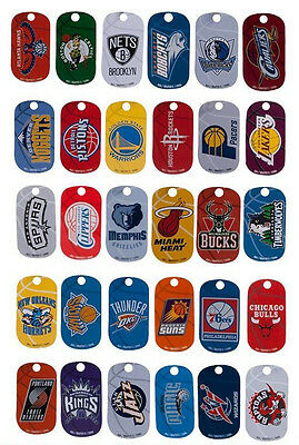 NBA Dog Tags - Basketball - Anhänger mit Kette / Dog Tag with chain - Alle Teams