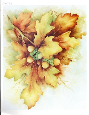 #15 Frosted Oak Leaves China Painting Study by Beth Grubb