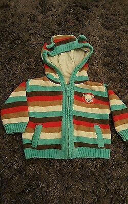 gorgeous boys cardy with cardy 3-6 months