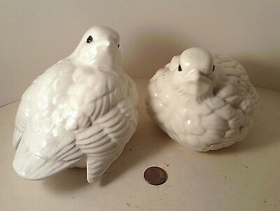 "PAIR original 1974-vintage (MARKED) Ceramic ""Arnel's ~ LOVE BIRDS"" Figurines! x2"