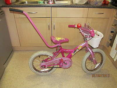 Parent Controlling Handle For Children/Kids Bike Pink