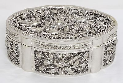 19th Century Chinese Pierced Silver Cricket Box