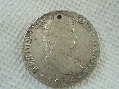 1825 Spanish Silver Coin Fernando VII  8 Reales